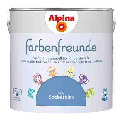 ALPINA Wand- und Deckenfarbe »Farbenfreunde«, Seebärblau 2,5 l