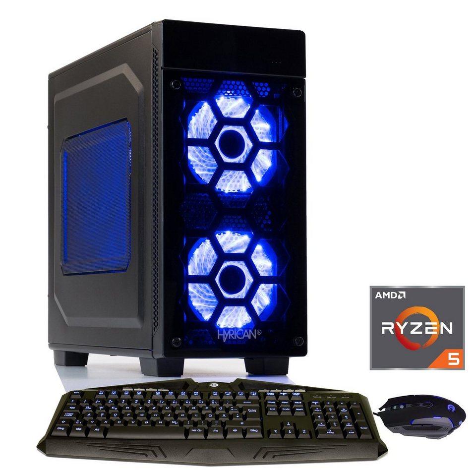 hyrican gaming pc ryzen5 2600 16gb ssd hdd amd rx. Black Bedroom Furniture Sets. Home Design Ideas