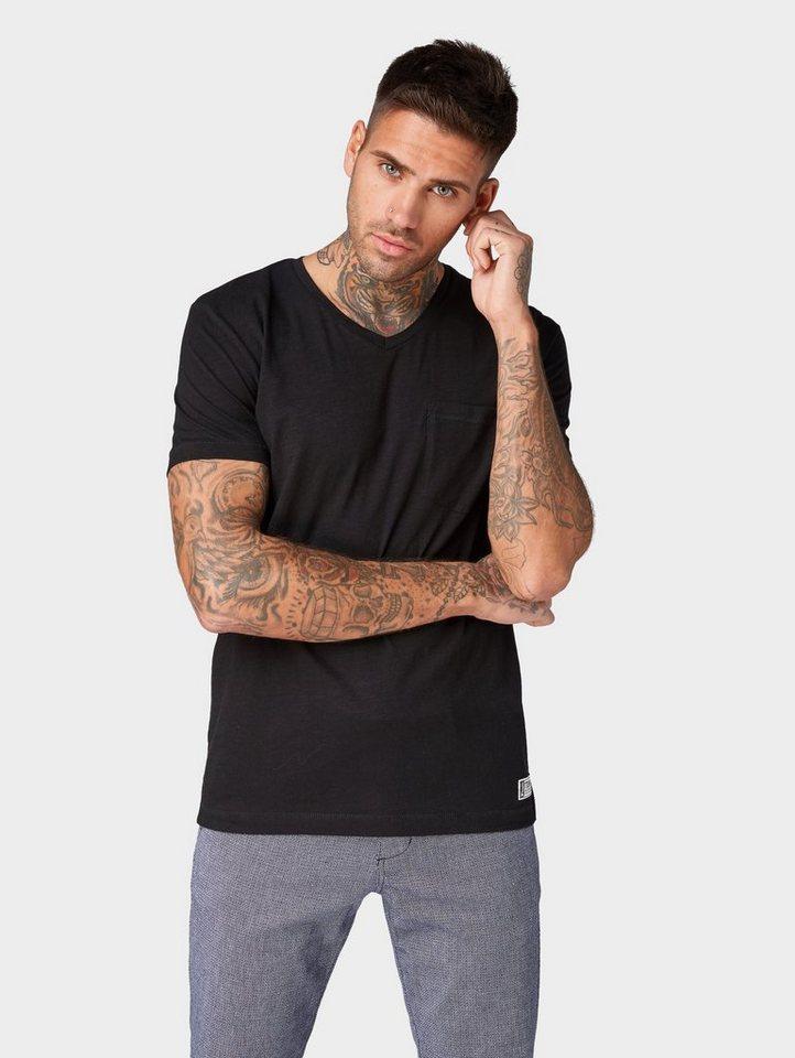 tom tailor denim -  T-Shirt »T-Shirt mit V-Ausschnitt «