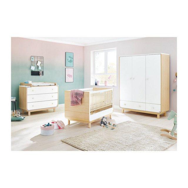 Komplettzimmer - Pinolino® Komplett Kinderzimmer ROUND, 3 tlg. (Kinderbett, breite Wick  - Onlineshop OTTO