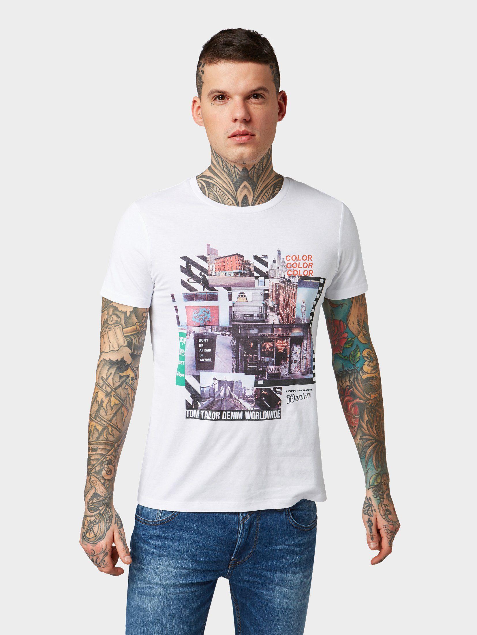 TOM TAILOR Denim T-Shirt »T-Shirt mit Foto-Print«