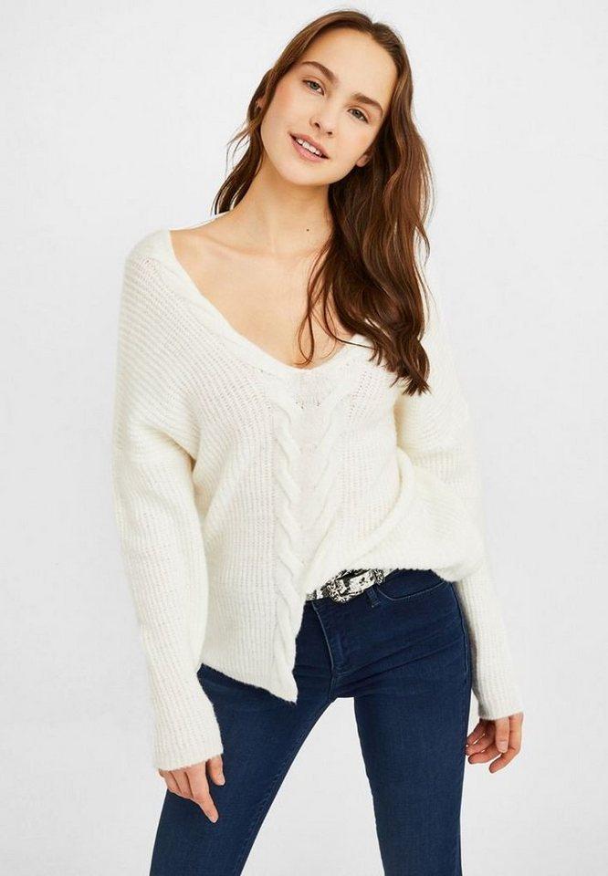 b14d9f44cdddaa OXXO V-Ausschnitt-Pullover mit mittiger Zopfmusterung online kaufen ...