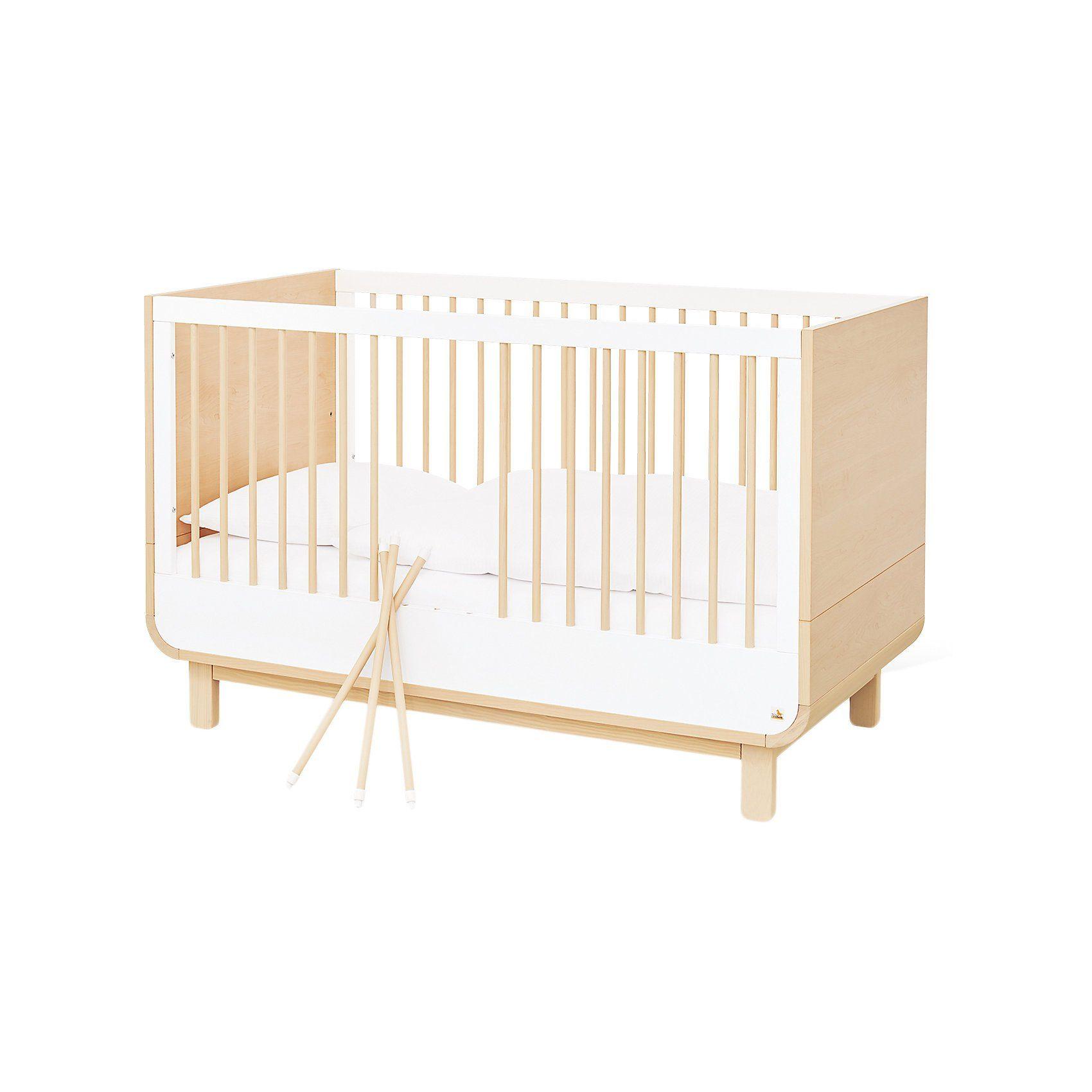 Pinolino® Kinderbett ROUND, Ahorn, weiß, 70 x 140 cm