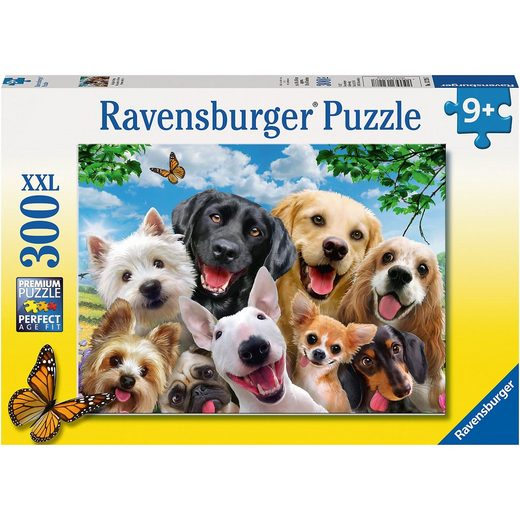 Ravensburger Puzzle, 300 Teile XXL, 49x36 cm, Delighted Dogs