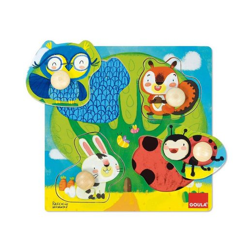 Goula Holzpuzzle Waldtiere