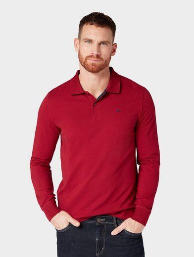 TOM TAILOR Langarmshirt »Poloshirt mit Streifen«
