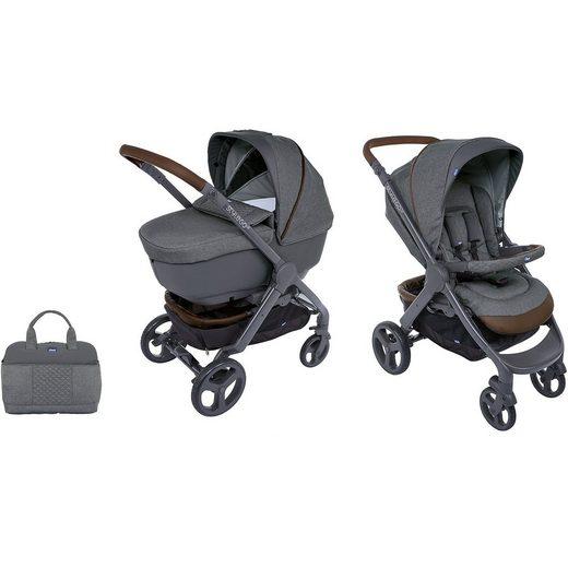 Chicco Kombi Kinderwagen Duo Stylego Up Crossover Wheels, Cool Grey