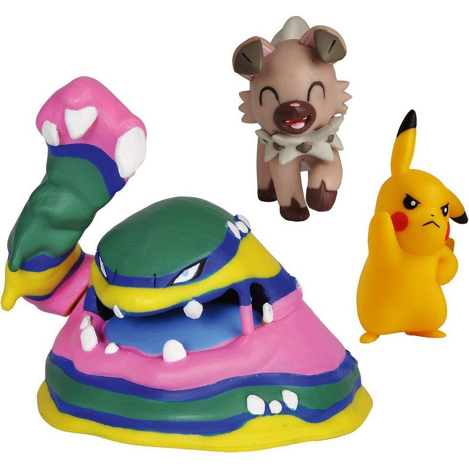 a6b05debe78196 BOTI Pokémon Battle Figuren 3er-Pack Pikachu, Wuffels und Alola-S online  kaufen | OTTO