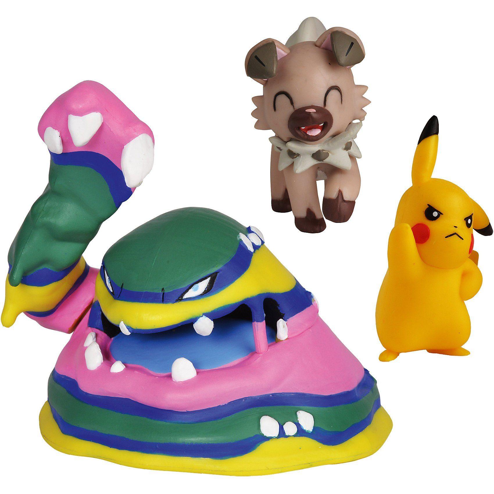 BOTI Pokémon Battle Figuren 3er-Pack Pikachu, Wuffels und Alola-S