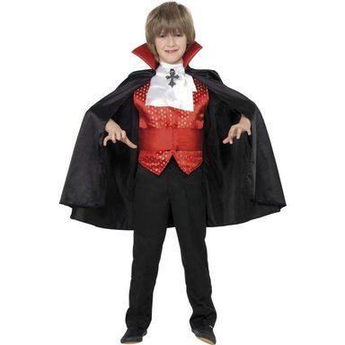 Dracula Junior Vampir Kinderkostüm schwarz-rot