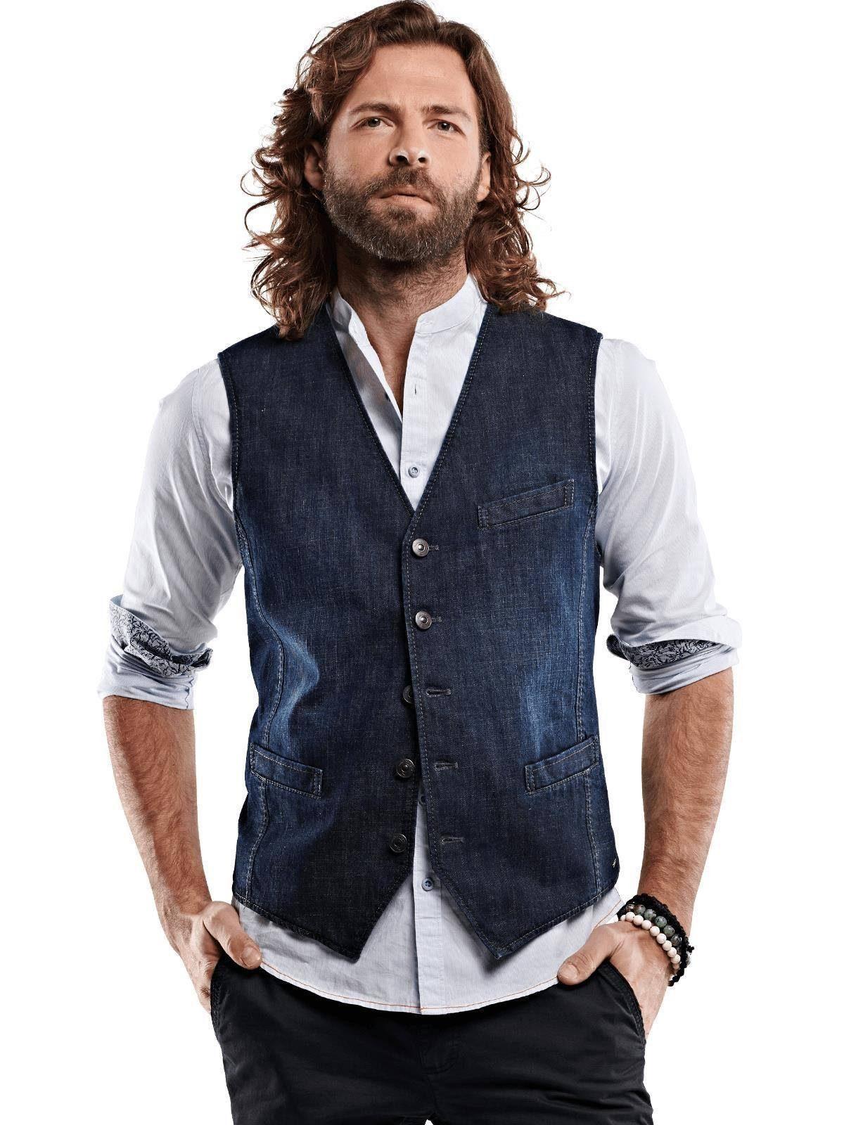 emilio adani Sakko-Weste aus Jeans