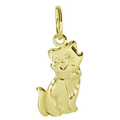 OSTSEE-SCHMUCK Kettenanhänger »Katze Gold 333/000«