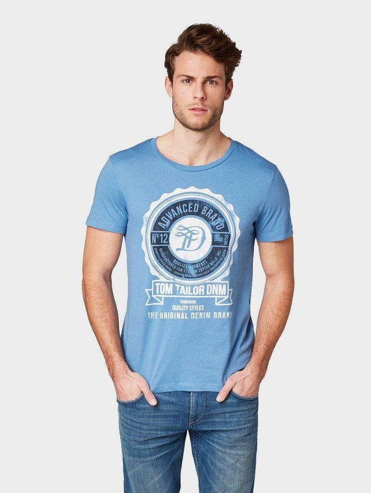 Herren TOM TAILOR Denim  T-Shirt T-Shirt mit Logo-Print blau | 04061945250154