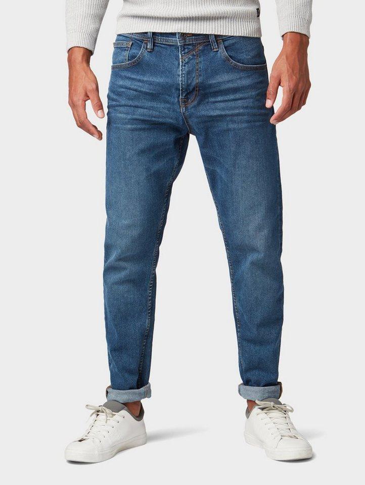 Herren TOM TAILOR Denim  Tapered-fit-Jeans Conroy Tapered Jeans blau | 04061945363410