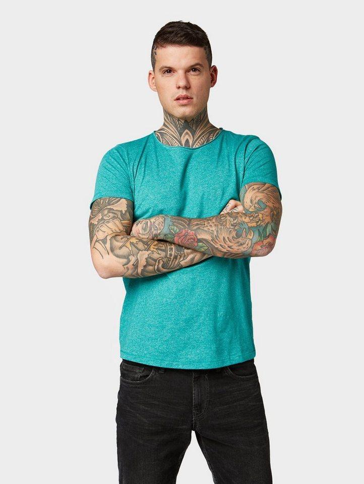 Herren TOM TAILOR Denim T-Shirt »Strukturiertes T-Shirt« blau, grau, grün, weiß | 04061945480018