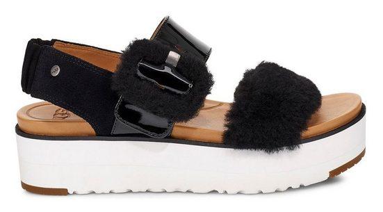 UGG »Fluff Chella« Sandale mit verstellbarer Schnalle