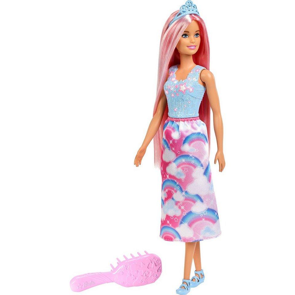 Mattel Barbie Dreamtopia Zauberhaar Königreich Puppe Pinke Haare