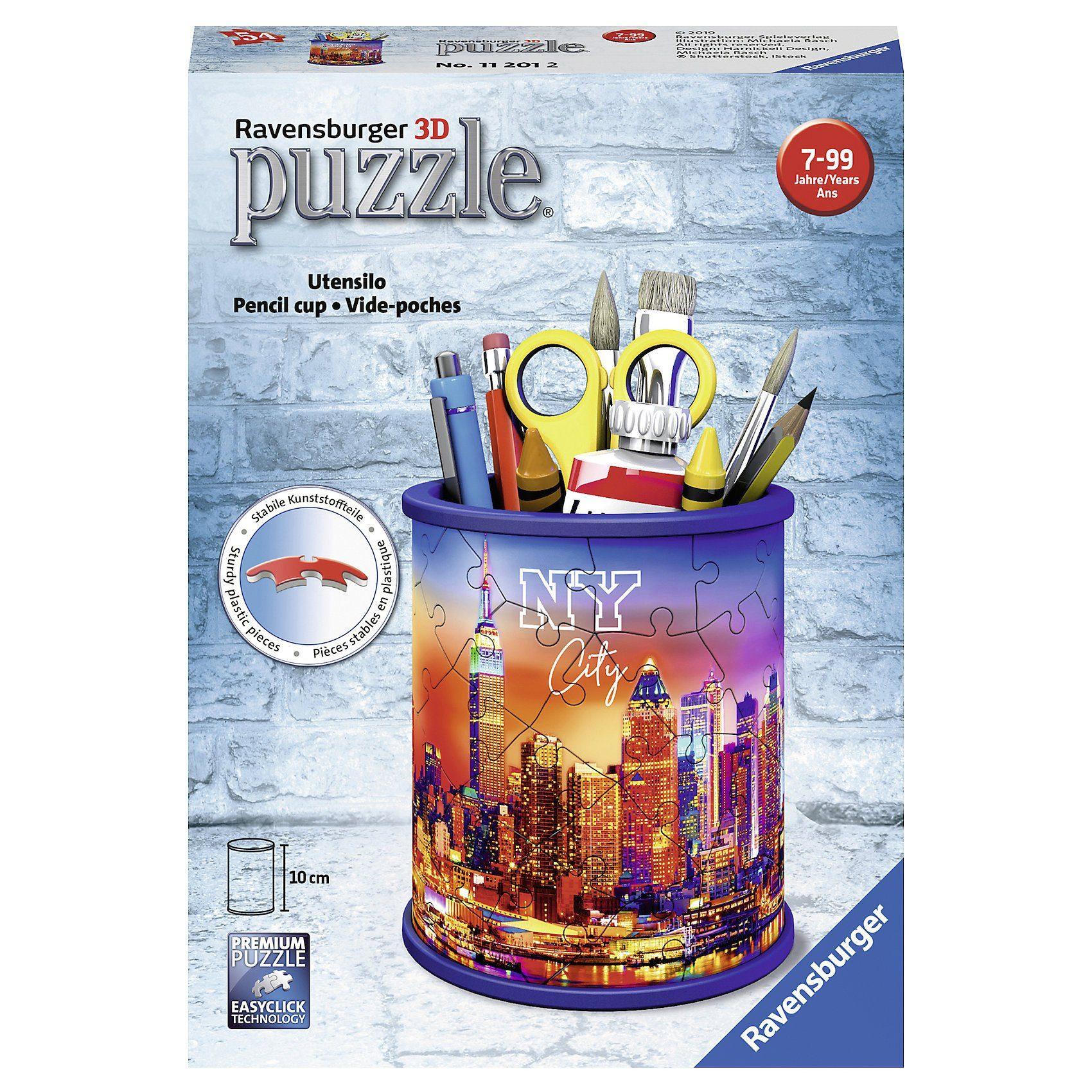 Ravensburger 3D-Puzzle Utensilo, Ø8 x 9,5 cm, 54 Teile, New York Skyline
