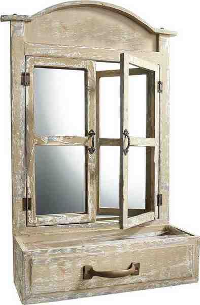 Home affaire Deko Fenster mit Spiegel und Gefäß