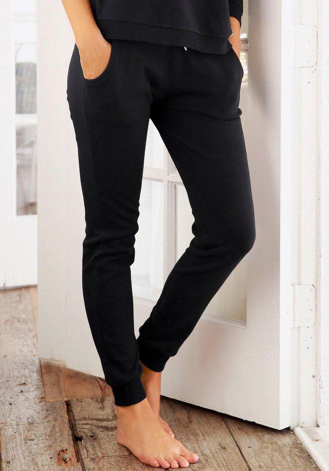 LASCANA Loungehose mit aufgesetzten Seitentaschen | Bekleidung > Umstandsmode > Umstandstuniken | Schwarz | LASCANA