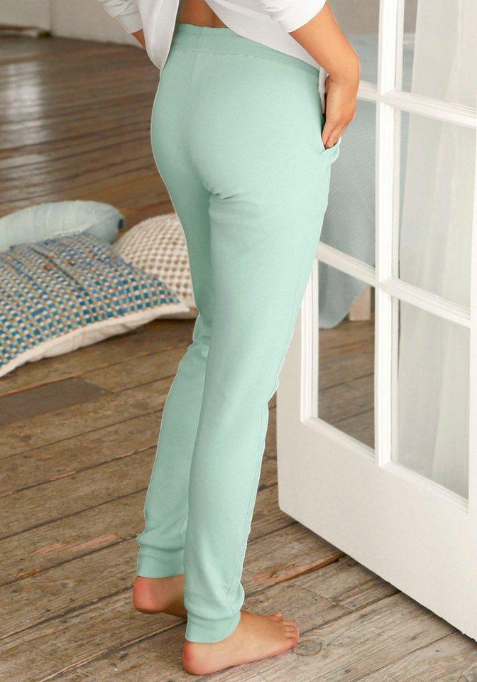 LASCANA Loungehose mit aufgesetzten Seitentaschen | Bekleidung > Umstandsmode > Umstandstuniken | Grün | LASCANA