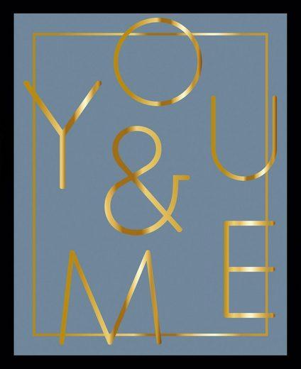G&C Bild »YOU & ME BLUE«, gerahmt