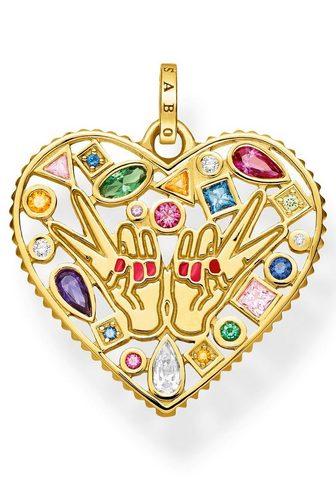 THOMAS SABO širdelės pakabukas »Love & Peace PE842...