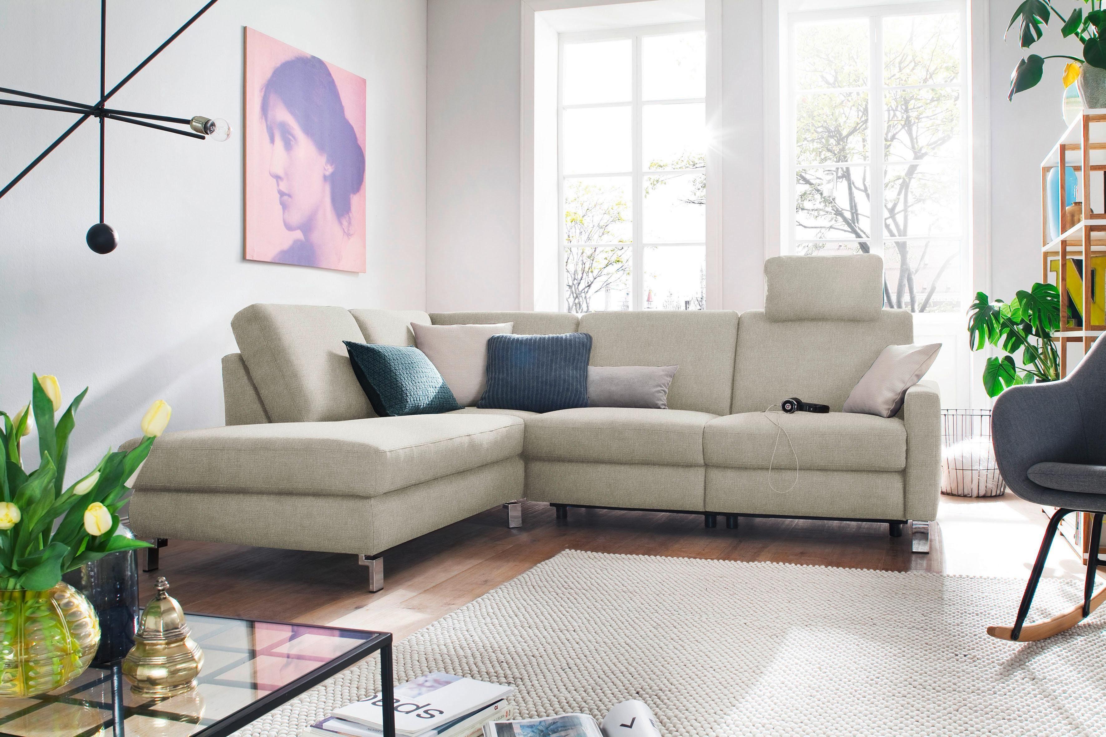 DELAVITA Ecksofa »Mainau«, wahlweise mit elektrischer Relaxfunktion, Federkern online kaufen | OTTO