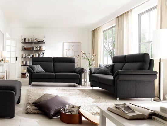 DELAVITA Polstergarnitur »Mailand«, Set: 3-Sitzer, 2-Sitzer und Sessel, wahlweise mit Move-Funktion