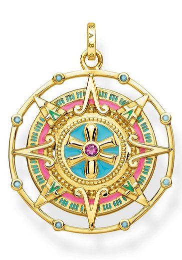 THOMAS SABO Kettenanhänger »Amulett, PE843-973-7«, mit synth. Korund und Glassteinen