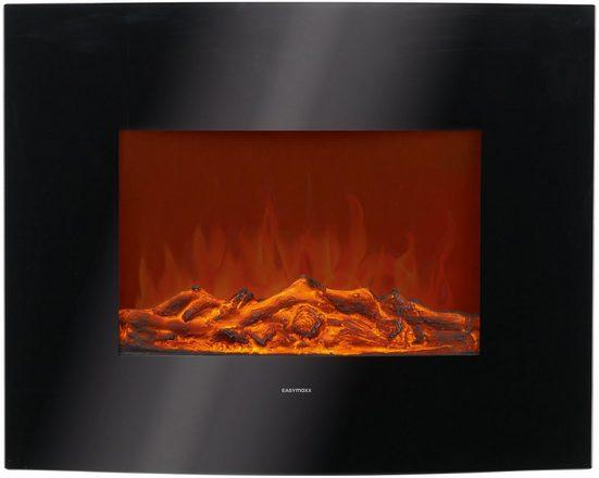 EASYmaxx Elektrokamin »Elektro-Wandkamin«, 2000W, mit LED-Flammeneffekt & Wärme, schwarz