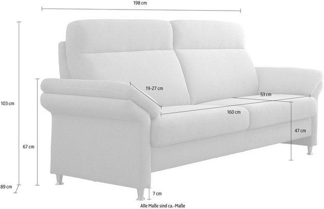 Sofas - DELAVITA 3 Sitzer »Mailand«, mit komfortablem Federkern Sitz, wahlweise mit Move Funktion  - Onlineshop OTTO
