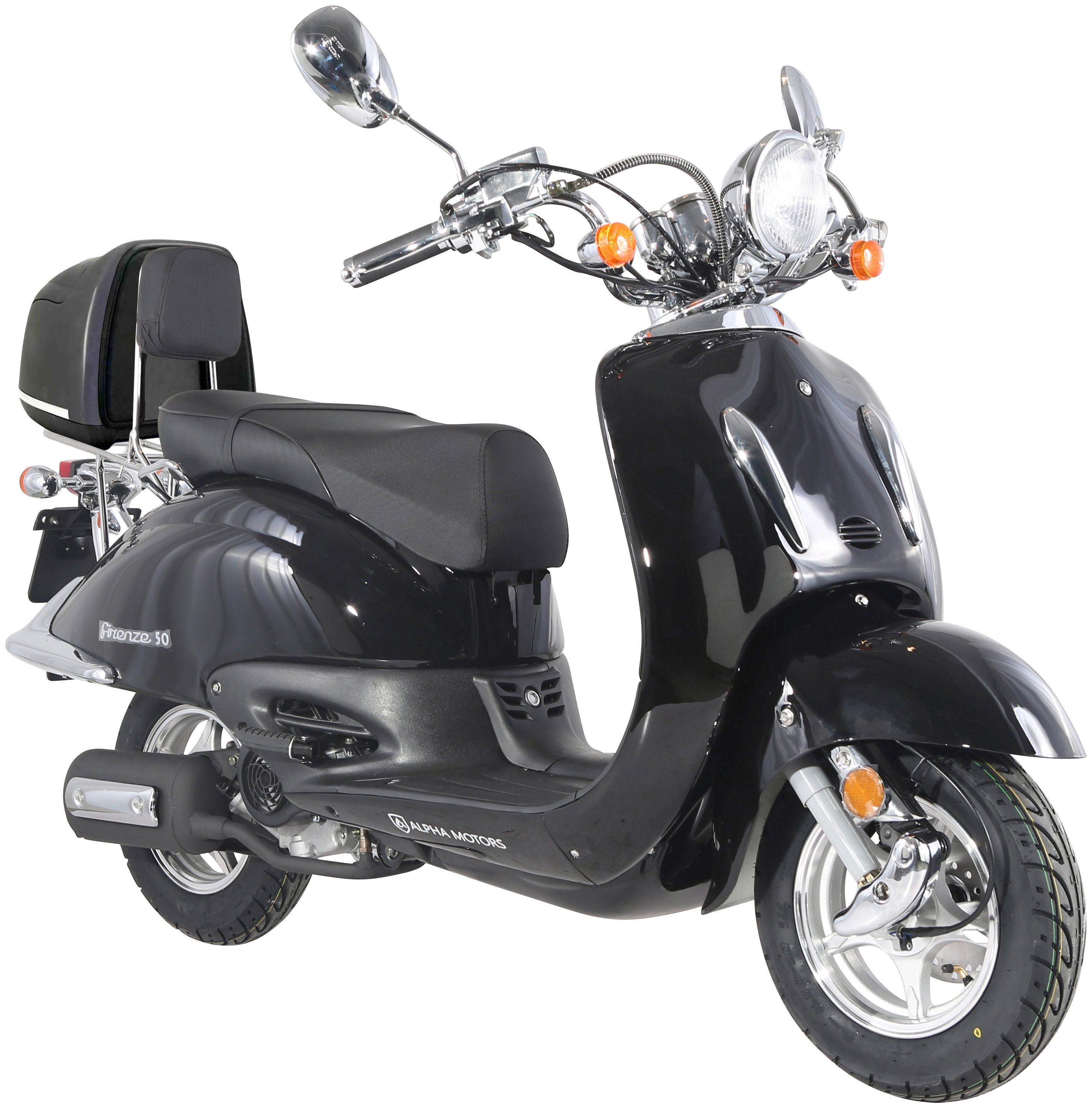 ALPHA MOTORS Motorroller »Retro Firenze«, 50 cm³, 45 km/h, inkl. Topcase