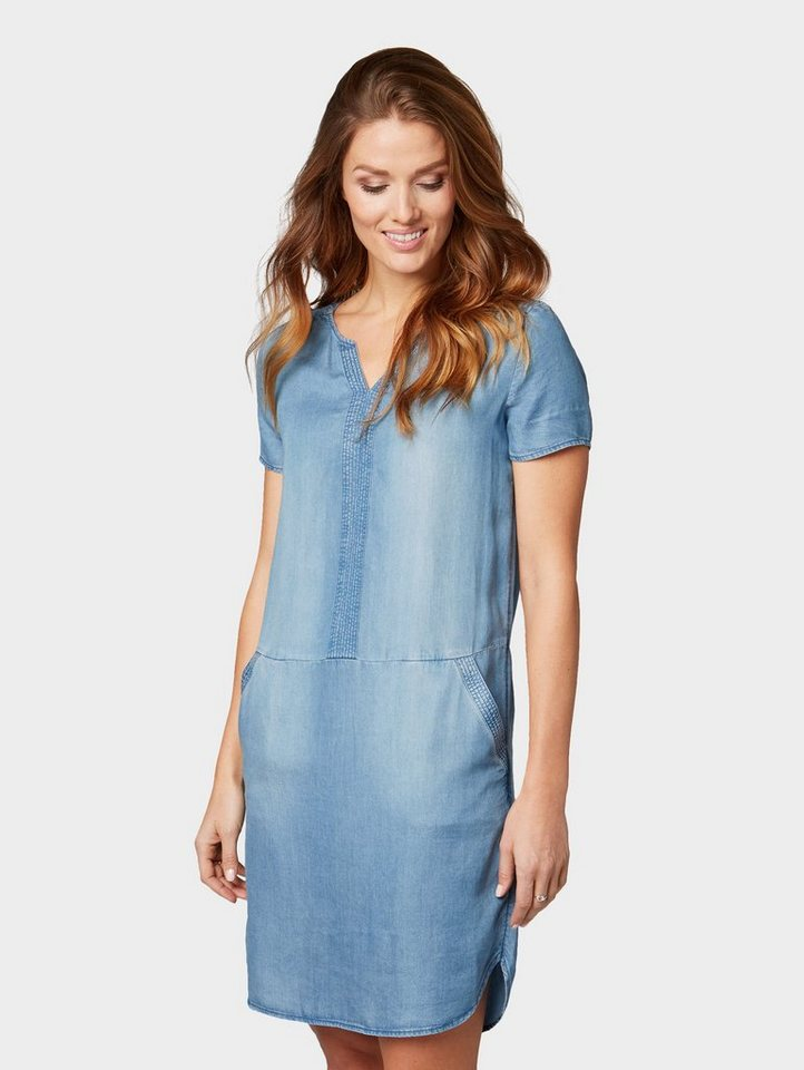 TOM TAILOR Blusenkleid »Jeanskleid« online kaufen | OTTO