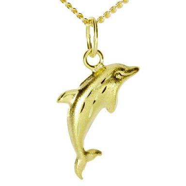 OSTSEE-SCHMUCK Kette mit Anhänger »Delphin Gold 333/000«