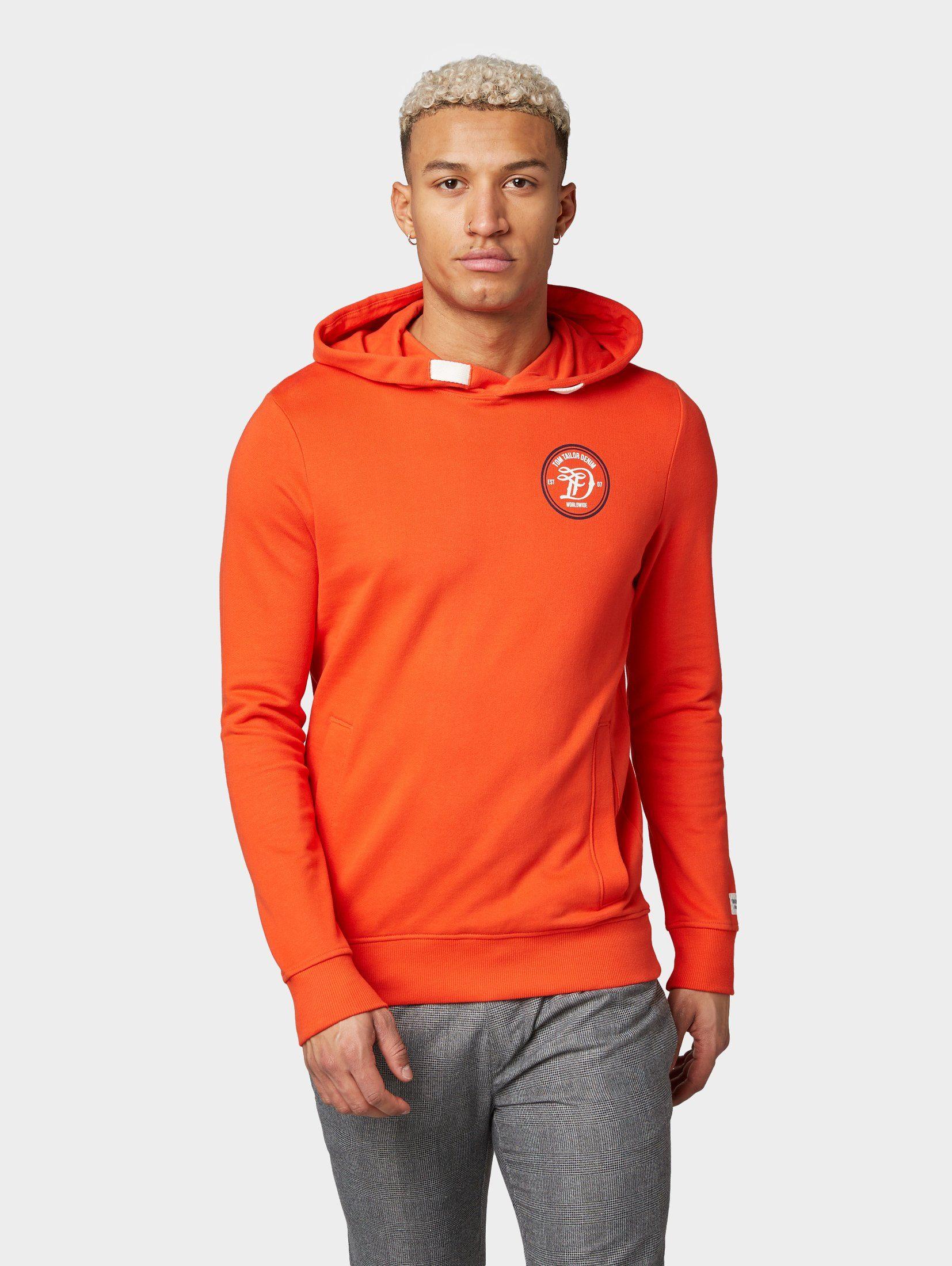 Kapuzensweatshirt Online »hoodie Mit Kaufen Tom Logo stickerei« Tailor Denim fgyY76b
