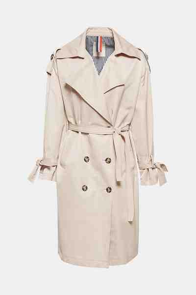 Esprit Glatter Trenchcoat mit femininen Details