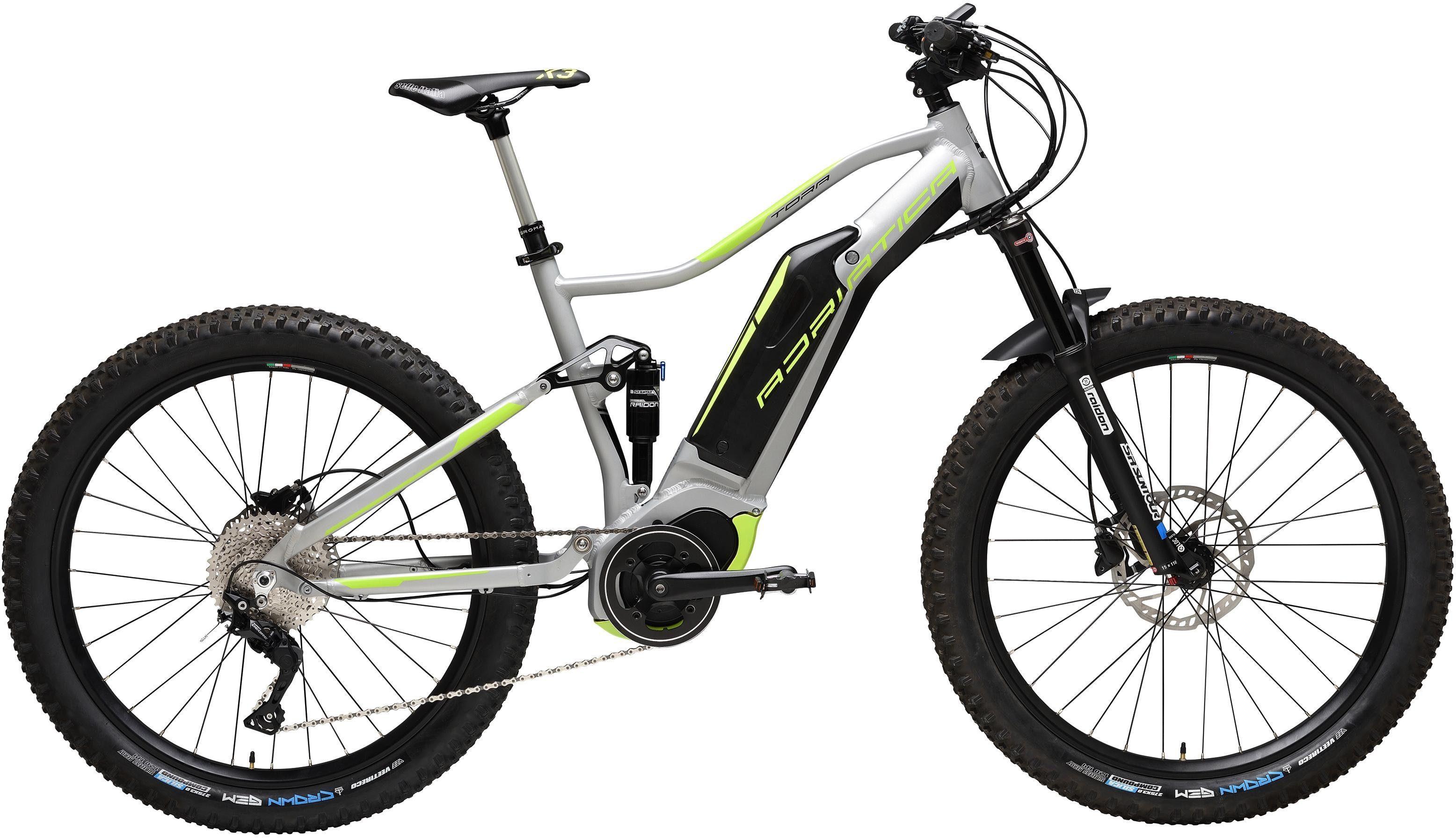 Adriatica E-Bike »TORA«, 10 Gang Shimano DEORE RDM 6000 Schaltwerk, Kettenschaltung, Mittelmotor 250 W