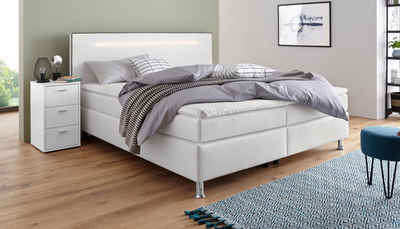 COLLECTION AB Boxspringbett, inkl. LED-Beleuchtung, Topper und Kissen