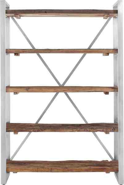 GMK Home & Living Bücherregal »Cross« aus massivem Mango Treibholz, mit schönem Metallgestell, Höhe 179 cm