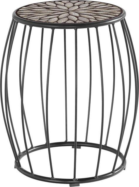 INOSIGN Beistelltisch »Cage«| mit besonders einzigartiger Tischplatten Optik| Breite 40 cm | Wohnzimmer > Tische > Beistelltische | INOSIGN