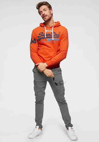 Superdry Kapuzensweatshirt mit kontrastfarbenen Details