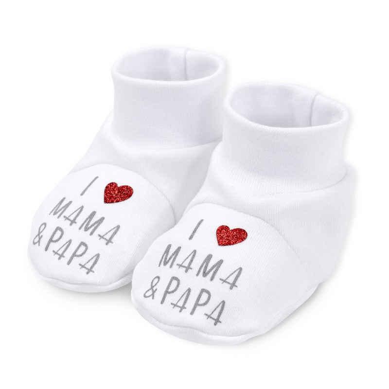 Baby Sweets »Schuhe I love Mama & Papa« Krabbelschuh (1-tlg)