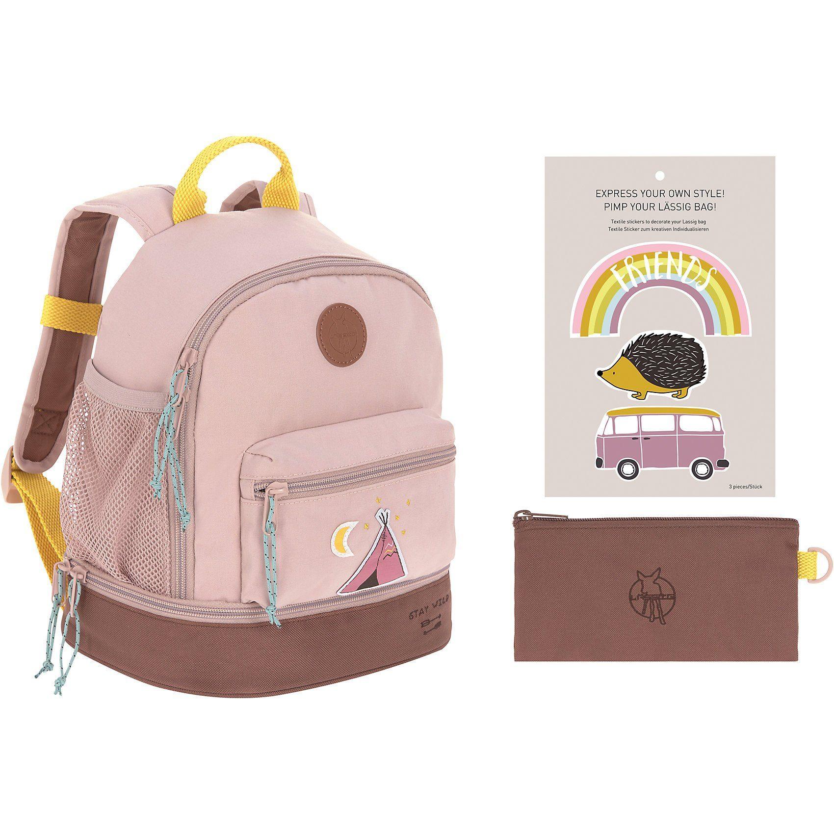 Lässig Kindergarten-Rucksack 4Kids, Mini Backpack, Adventure Tipi