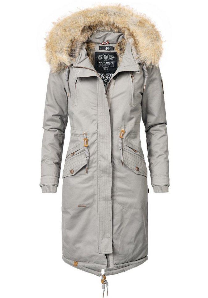 save off 4f56c b9c91 Navahoo Wintermantel »Kin-Joo« stylischer Damen Parka mit Kunstfell-Kapuze  online kaufen | OTTO