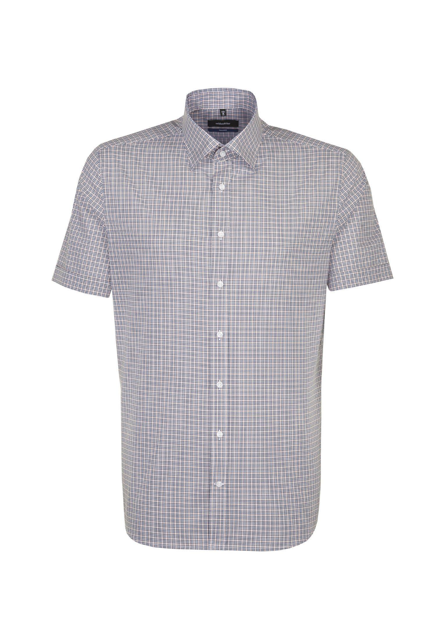 seidensticker Businesshemd »Tailored« Tailored Kurzarm Covered Button Down Kragen Karo online kaufen | OTTO