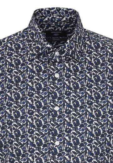 Businesshemd Langarm Kent Seidensticker Print kragen Blau »tailored« Tailored 34Ljq5cAR