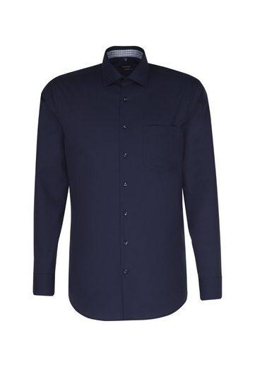 seidensticker Businesshemd »Comfort« Comfort Extra langer Arm Kentkragen Uni