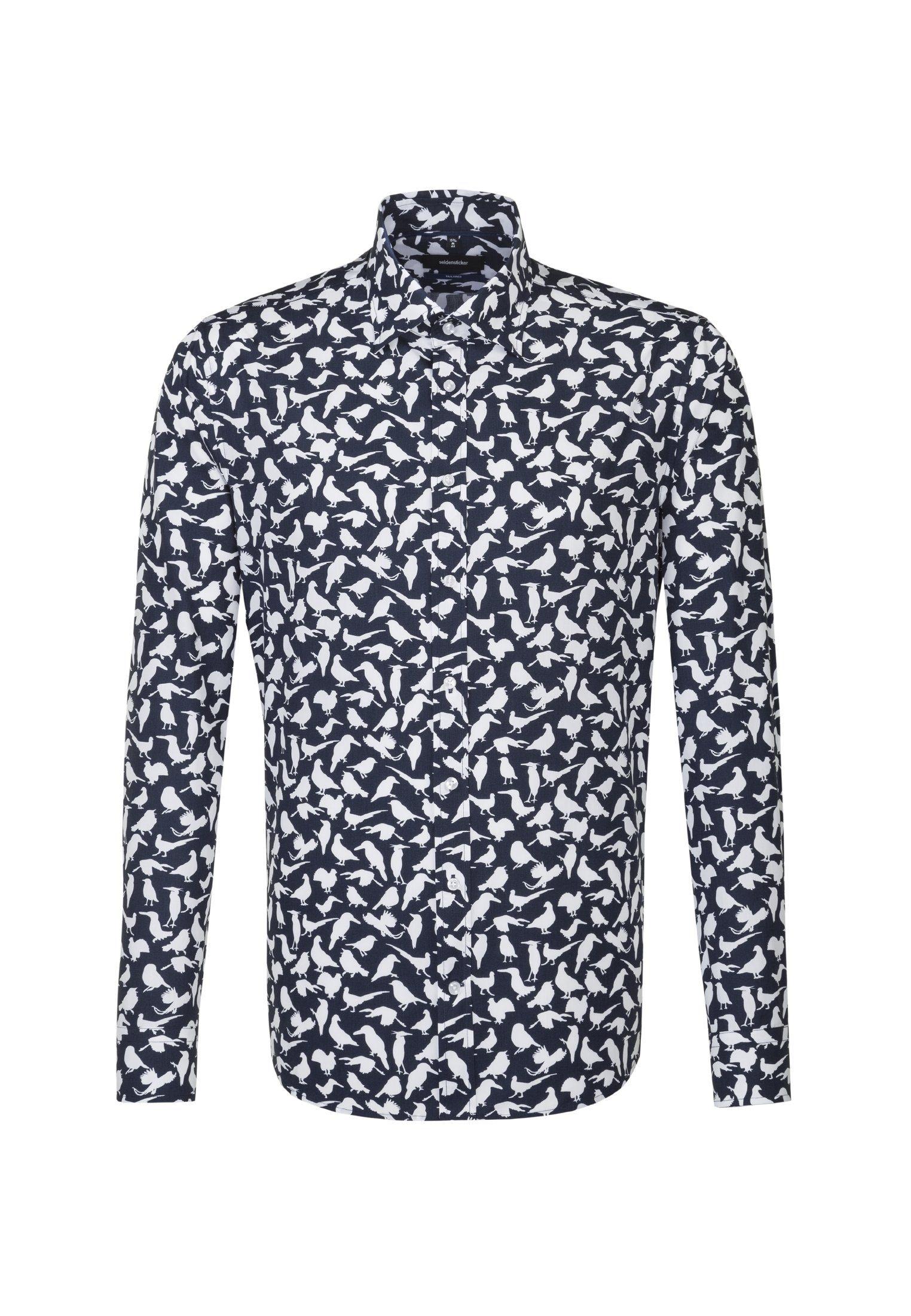 seidensticker Businesshemd »Tailored« Tailored Langarm Covered Button Down Kragen Print, Material: 100% Baumwolle online kaufen | OTTO