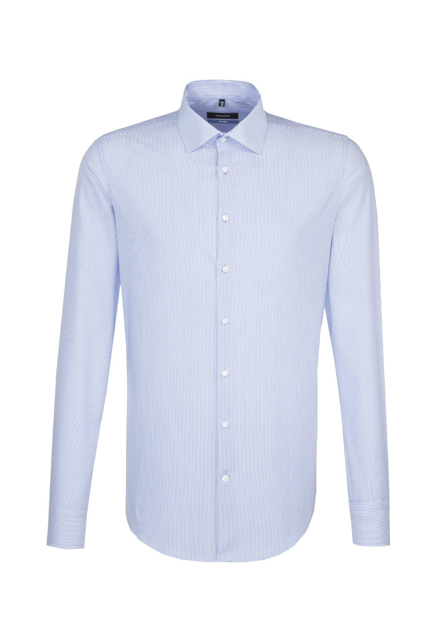 seidensticker Businesshemd »Tailored« Tailored Langarm Kent-Kragen Streifen